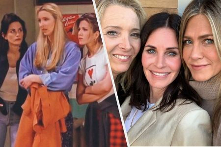 Rachel, Pheobe and Monica are having fun together.. And we miss F.R.I.E.N.D.S