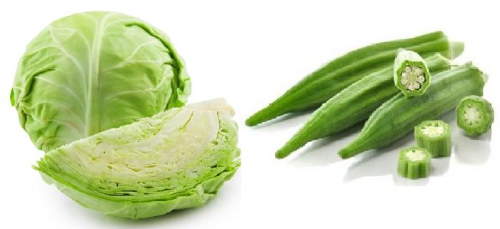 Cabbage & Okra_1&nb