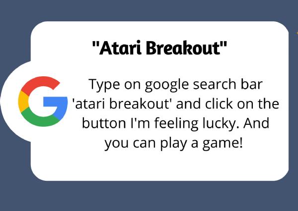 google fun Atari Breakout