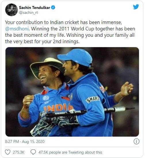 Sachin tweets Dhoni_1&nbs