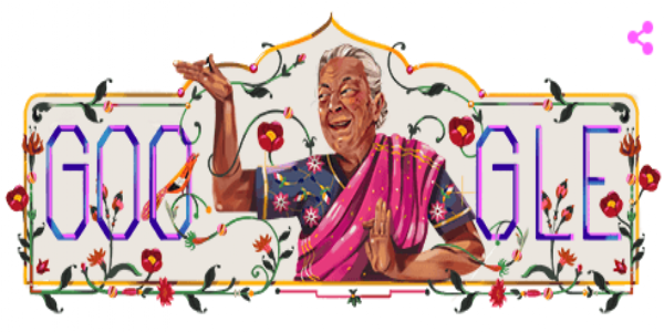 Today's Google Doodle: Zohra Sehgal, the Ravishing Indian Dancer!