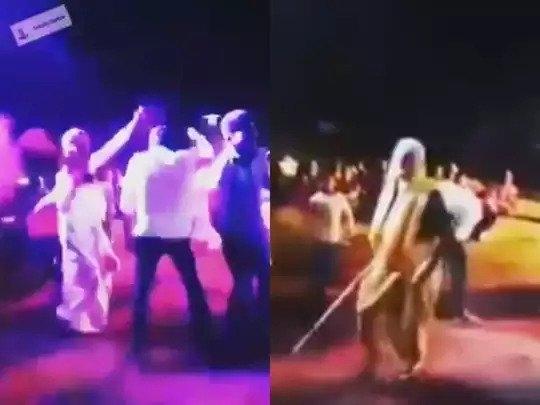 old lady beating husband_