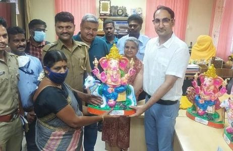 Ganesh Idols made by convicts become a Hit at Puducherry