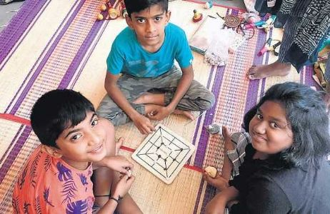Madurai School choses Traditional Games to Welcome Returning Students